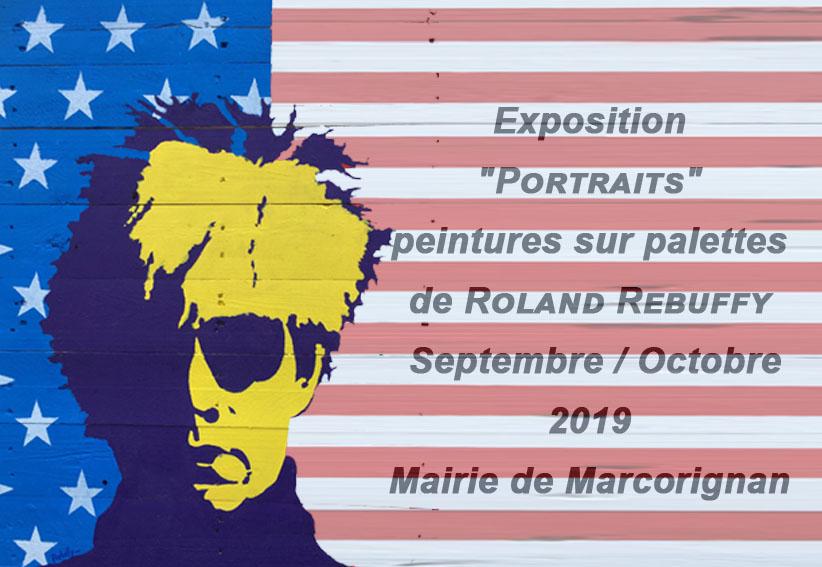 EXPOSITION «PORTRAITS» sur palettes de Roland REBUFFY à partir du 19 septembre