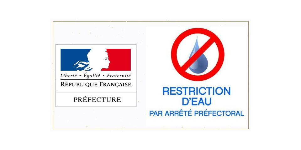 ARRÊTÉ PRÉFECTORAL – RESTRICTION D'EAU – MARCORIGNAN ALERTE RENFORCÉE